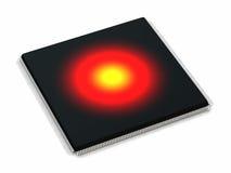 Microchip surriscaldato Fotografia Stock Libera da Diritti