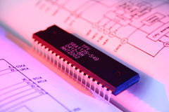 Microchip Technology. Background possible to use for printing and project Stock Photo