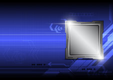 Microchip on technology background Royalty Free Stock Image