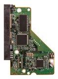 Microchip van HDD op wit wordt geïsoleerd dat stock foto's