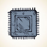 Microchip. Vector drawing Stock Photo