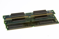 Microchipes aislados fotos de archivo
