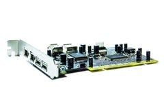 Microchipes y transistores fotografía de archivo libre de regalías