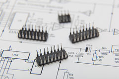 Microchips Royalty Free Stock Images