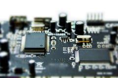 Microchips en transistors royalty-vrije stock foto