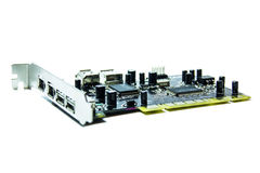 Microchips en transistors royalty-vrije stock fotografie