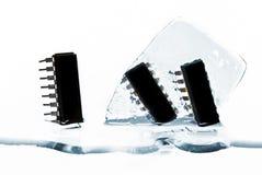 Microchips in ijs Stock Afbeeldingen