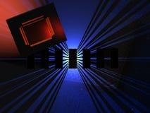 Microchipteknologi arkivbild