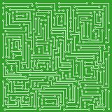 Microcircuit. Abstraction representing white electronic microcircuit on darkly green background Royalty Free Stock Photography