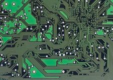 Microcircuit. A printed microcircuit background for the computer Stock Photography