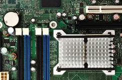 Microcircuit board. Royalty Free Stock Images