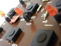 Microcircuit board. Photo of a microcircuit board stock photography