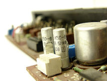 Microcircuit board. Photo of a microcircuit board royalty free stock image