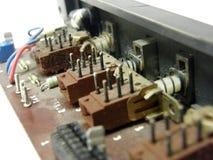 Microcircuit board. Photo of a microcircuit board stock photo