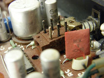Microcircuit board. Photo of a microcircuit board royalty free stock photography