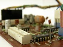Microcircuit board. Photo of a microcircuit board stock image