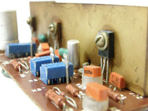 Microcircuit board. Photo of a microcircuit board stock photos