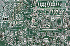 Microcircuit board. Royalty Free Stock Photo