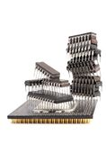 Microcircuit chips Royalty Free Stock Image