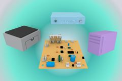 Microcircuit for technics Stock Image