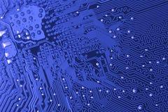 Microcircuito azul Imagens de Stock