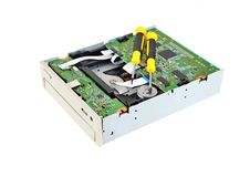 Microcircuito CD-ROM e chave de fenda Imagens de Stock Royalty Free