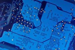 Microcircuito elétrico. Fotos de Stock