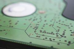 Microcircuito electrónico Fotos de archivo libres de regalías