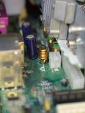 Microcircuitos, cierre del ordenador de los transistores fotografiados fotos de archivo libres de regalías