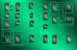 Microcircuits Royalty Free Stock Images