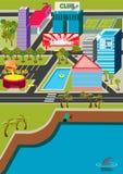 microcity stock illustrationer