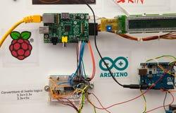 Microcontrolador y microprocesador Fotos de archivo libres de regalías