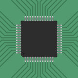 A microcontroller. CPU. Processor.  Vector Royalty Free Stock Photo