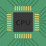 A microcontroller. CPU. Processor.  Vector Royalty Free Stock Photography