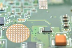Microcontroller on system board Stock Photography