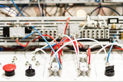Microcontrollers for pneumatic pistons Royalty Free Stock Photo
