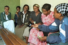 Microcredit project Ethiopian young women Royalty Free Stock Photo