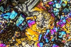 Microcrystals de sulfate d'ammonium Photographie stock libre de droits
