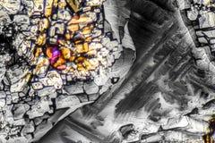 Microcrystals de sulfate d'ammonium Images stock
