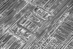 Microcrystals de sulfate d'ammonium Image stock