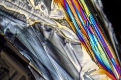 Microcrystals de sulfate d'ammonium Photos stock