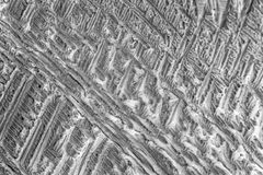 Microcrystals de sulfate d'ammonium Images libres de droits
