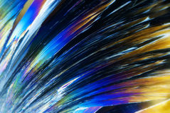 Microcrystals in polarized Light. Microphoto of Microcrystals in polarized Light Stock Image