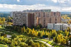 microdistrict 16 της πόλης Zelenograd στη Μόσχα, Ρωσία Στοκ Εικόνες