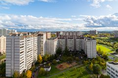 microdistrict 16 της πόλης Zelenograd στη Μόσχα, Ρωσία Στοκ εικόνα με δικαίωμα ελεύθερης χρήσης