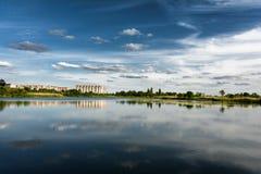 Microdistrict Szwedzki obruszenie w Gomel w lecie Białoruś zdjęcia royalty free