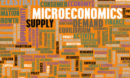 Microeconomics. Or Micro Economics as a Concept Royalty Free Stock Photo