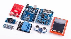 Microelectrónica de la programación informática Foto de archivo libre de regalías