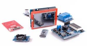 Microelectrónica de la programación informática Foto de archivo