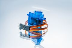 Microelectronic servomotor control robots toys Stock Photography